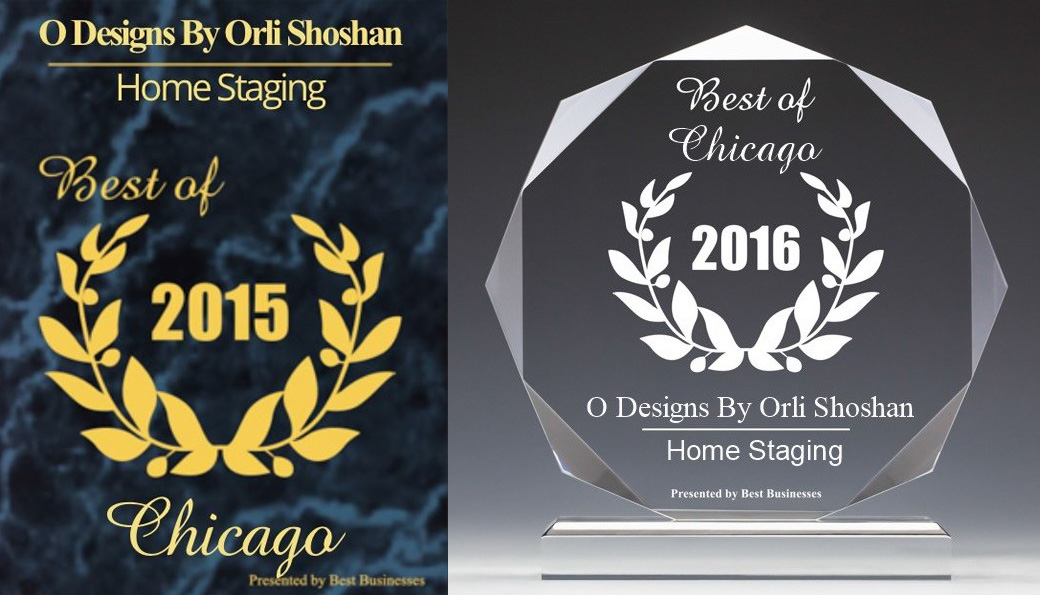 O Designs by Orli Shoshan Home Staging - Best of Chicago 2015 and 2016.